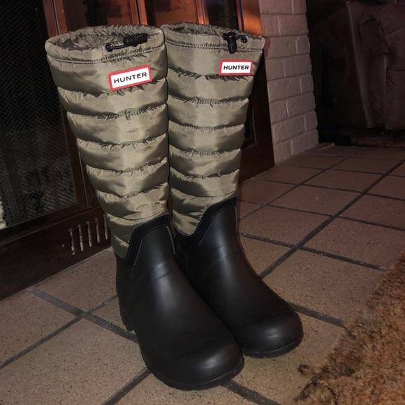 a7b40b27f0 Hunter Shoes - rare winter fleece Hunter Boots